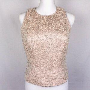 ZOLA EVENING Pink Pearl Beaded Crop Top 6